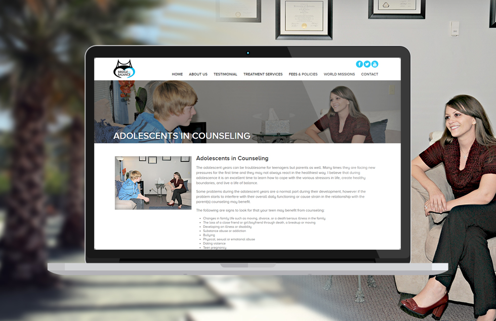Bridge to Balance, content website