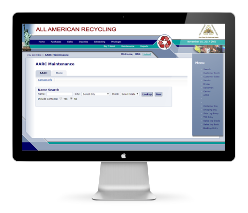 AARC, Custom CRM web application