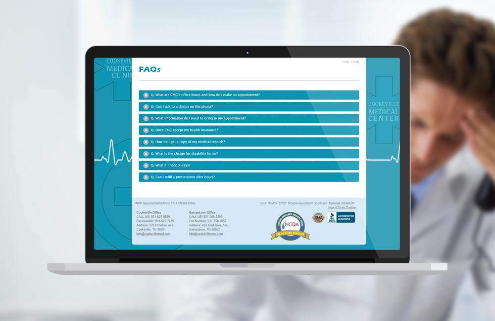 Cookville Medical Center, Medical website