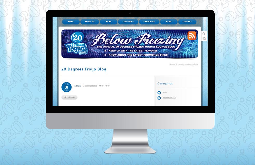 20 degree froyo, Frozen Yogurt Website