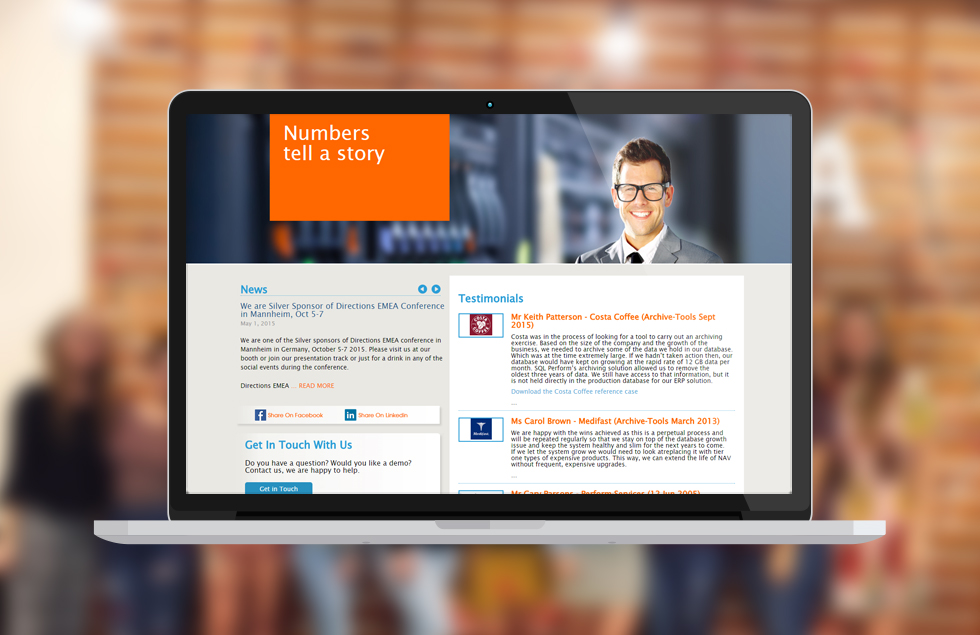 SQL Perform, Content Management website