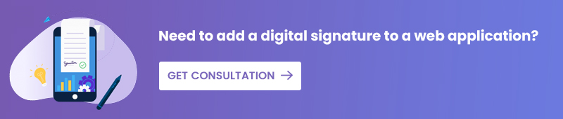 Need to add a digital signature to a web application?