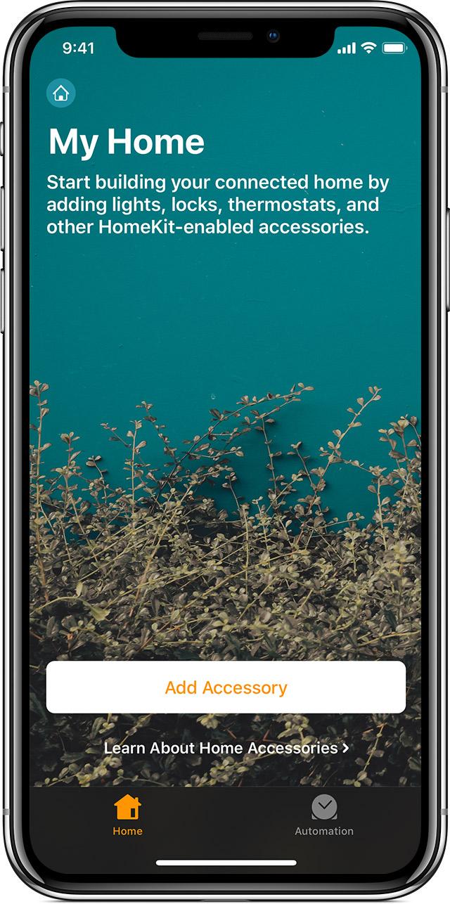 Home app Add Accessory