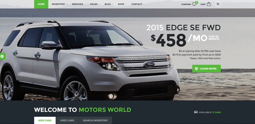 Car dealership websites
