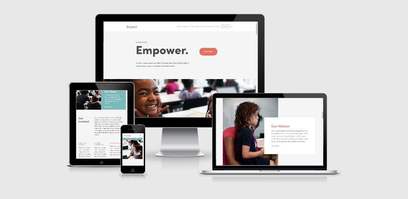 Impact – Education Squarespace Template