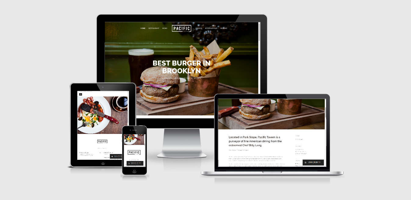 Pacific –Restaurant Squarespace Template