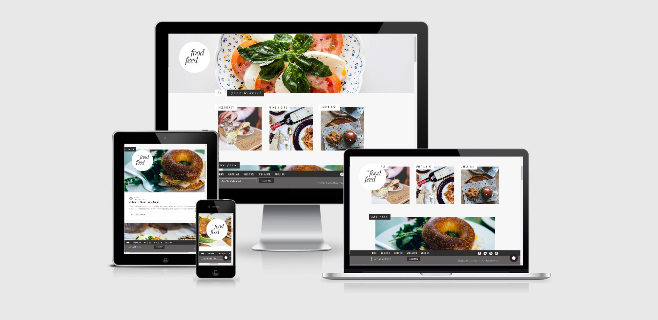 the food feed Wix Template