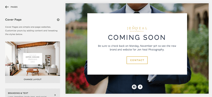 Squarespace website coming Soon
