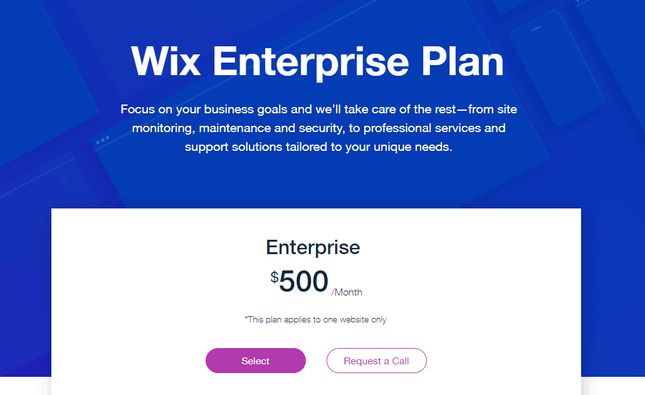 Wix Enterprise Plan