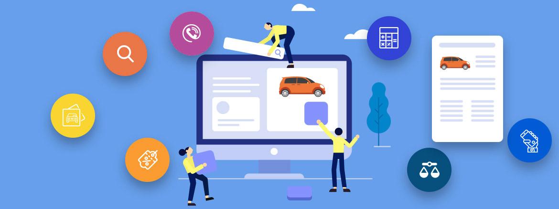 car dealer website feature