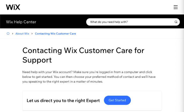 customer-support-wix